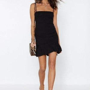 Nasty Gal Flip 'Em Off Mini Dress Black